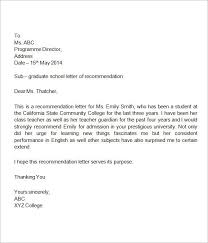 9 best images of student recommendation letter template sample