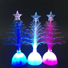 mini colorful led fiber optic christmas tree night light lamp