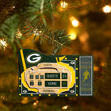 bay packers team scoreboard ornament