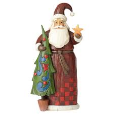 jim shore folklore santa with tree figurine figurines hallmark