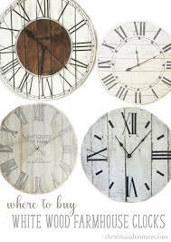 where to buy farmhouse wall clocks christinas adventures