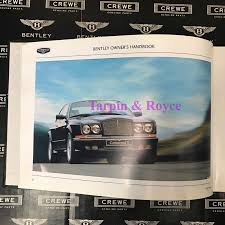 bentley continental t 2000 01 owners manual tsd7690 tr924