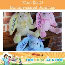 monogrammed bunny personalized monogrammed bunnies for easter or baby