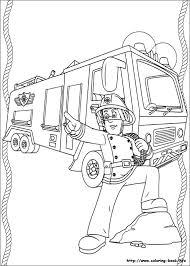 fireman sam coloring picture fireman sam fireman
