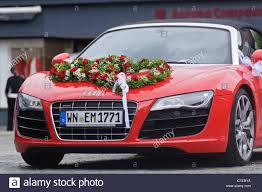 convertible audi red red audi r8 quattro v10 convertible wedding car luxury roadster