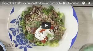 simply edible recipe savory quinoa bowl