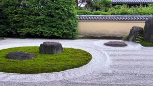 Zen Rock Garden by Japanese Garden Datoku Ji Ryogen In 1