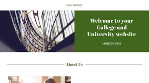 college and university website templates godaddy