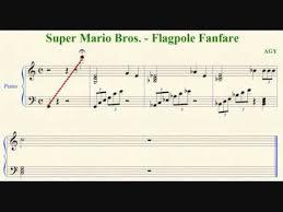 super mario bros flagpole fanfare sheet music