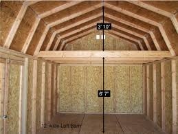 12 X 20 Barn Shed Plans Better Built Barns Loft Barns Better Built Barns