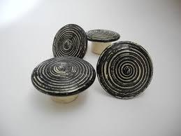 black ceramic cabinet knobs black door knobs drawer knobs cabinet knobs door pulls handmade