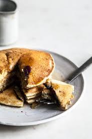 vegan whole wheat blueberry pancakes the full helping