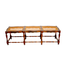 french provincial carved cane bench seat chairish