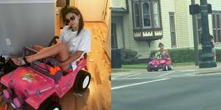 jeep barbie party drives barbie jeep around campus following dwi the