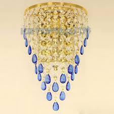 online shop golden tv background crystal egg hanging wall lights
