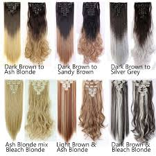 light ash blonde clip in hair extensions p4 24 dark brown mix ash blonde 8 piece 18clips clip in on hair