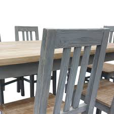 bentley home reclaimed dining table set 6 chairs charles bentley