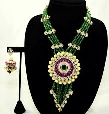color stone necklace images Pinky 39 s collection kundan necklace set gold plated ad seeded jpeg