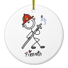 basic stick figure fireman t shirts and gifts ornaments