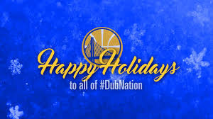 happy holidays from the golden state warriors
