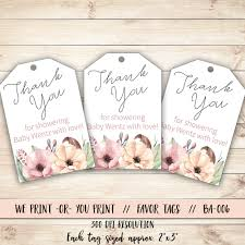 Thank You Baby Shower Gifts Baby Shower Tag Floral Baby Shower Baby Shower Gift Tag Floral