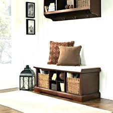 Entryway Storage Bench With Coat Rack Entryway Storage Bench Mihijo Info