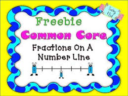 free fraction number lines common core by teaching 4 real tpt