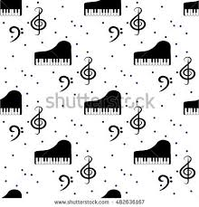 Musical Note Decorations Abstract Music Backgrounds Piano Keys Musical Stock Vector