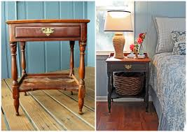 how to turn a trashed bedside table into a charming cottage