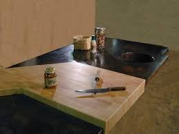 maple end grain wood contertop cutting board and copper countertop