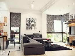 pale grey living room glass window fur cushion soft tesca sofa