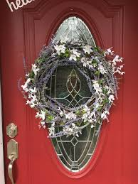 Decorative Wreaths For Home by Lavender Wreath For Front Door Or Interior Decor Home Decor