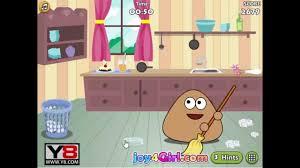 pou games pou clean room game online games funny game for kids