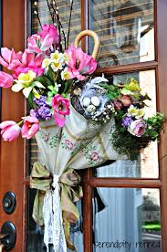 How To Make A Spring Wreath by Diy How To Make A Spring Umbrella Door Decoration Using An Old