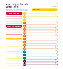 daily schedule template 12 free sample example format download
