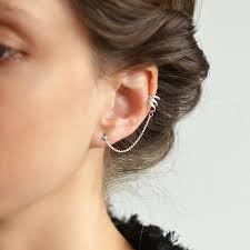 earring on ear original sterling silver ear cuff and stud earrings jpg 900 900