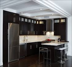 kitchen color schemes for kitchens with dark cabinets light grey