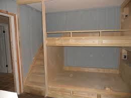 Wood Loft Bed With Desk Plans by Best 25 Queen Bunk Beds Ideas On Pinterest Queen Size Bunk Beds