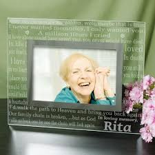 personalized in loving memory gifts personalized engraved in loving memory memorial glass frame