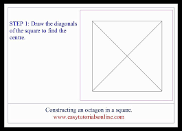 drawing an octagon in a given square youtube
