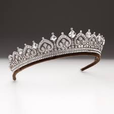 tiaras uk large two row palmette scroll and square tiara andrew prince