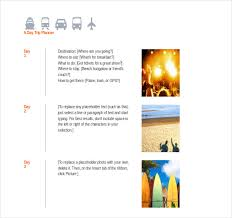 Free Travel Itinerary Template Excel Trip Itinerary Template 20 Free Word Excel Documents
