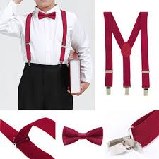 shop boys gray suspenders and bow tie on wanelo