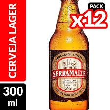 New Cerveja SERRAMALTE Garrafa 300ml - Caixa com 12 Unidades #ZP96
