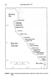 Map Of Cambria Ca Biological Aspects Of Nearshore Rockfishes Of The Genus Sebastes