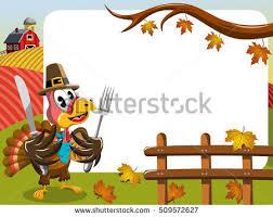 thanksgiving day horizontal frame featuring pilgrim stock vector