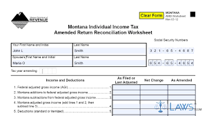 form montana individual income tax amended return reconciliation