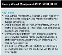 a new in vivo test method to compare wound dressing fluid handling