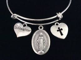 goddaughter charm bracelet goddaughter miraculous heart cross expandable charm bracelet