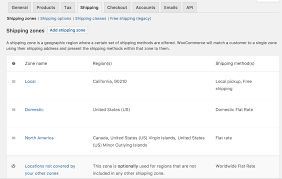 California Zip Code by Setting Up Shipping Zones Woocommerce Docs